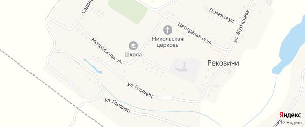 Школьная улица на карте села Рековичей с номерами домов