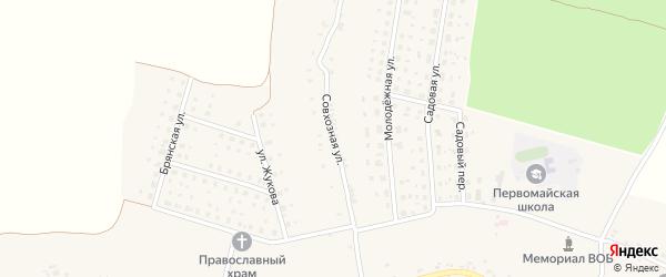Совхозная улица на карте Первомайского села с номерами домов
