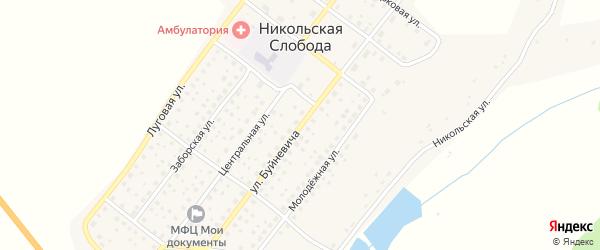 Улица Буйневича на карте деревни Никольской Слободы с номерами домов