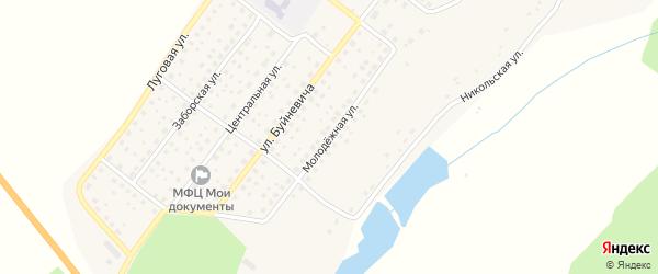 Молодежная улица на карте деревни Никольской Слободы с номерами домов