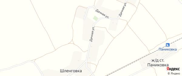 Дачная улица на карте деревни Шленговки с номерами домов