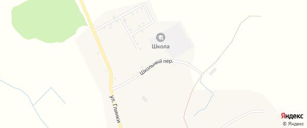 Школьный переулок на карте деревни Старокрасной Слободы с номерами домов