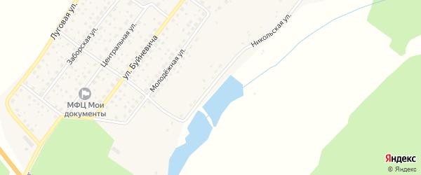 Никольская улица на карте деревни Никольской Слободы с номерами домов