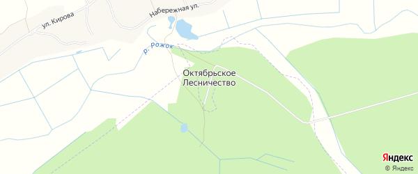 Карта хутора Октябрьского Лесничества в Брянской области с улицами и номерами домов