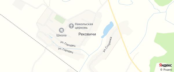 Карта села Рековичей в Брянской области с улицами и номерами домов