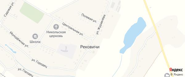 Улица Журавлева на карте села Рековичей с номерами домов