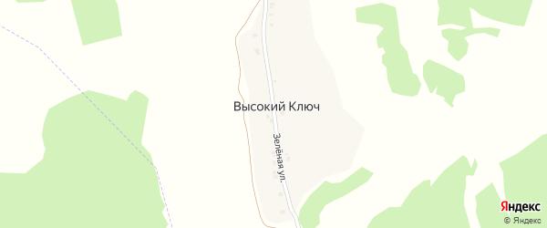 Зеленая улица на карте поселка Высокого Ключа с номерами домов