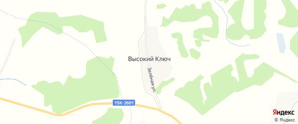Карта поселка Высокого Ключа в Брянской области с улицами и номерами домов