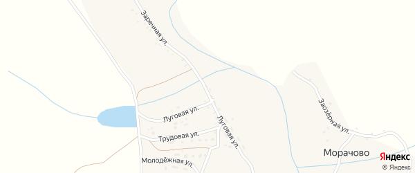 Пролетарская улица на карте села Морачово с номерами домов