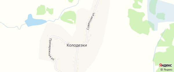 Советская улица на карте деревни Колодезки с номерами домов