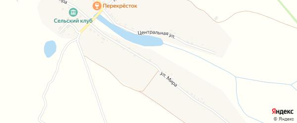 Улица Мира на карте деревни Папсуевки с номерами домов