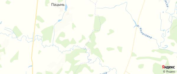 Карта территории Рогнединского городского поселения Брянской области с районами, улицами и номерами домов