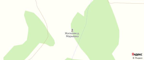 Озерная улица на карте деревни Княгинино с номерами домов