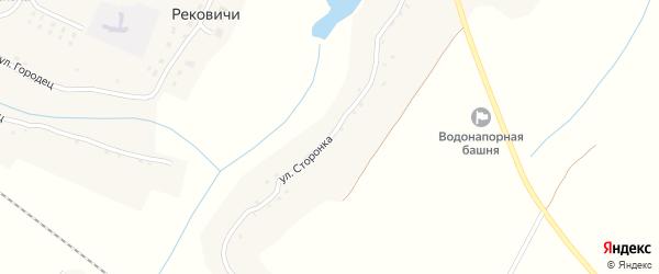 Улица Сторонка на карте села Рековичей с номерами домов