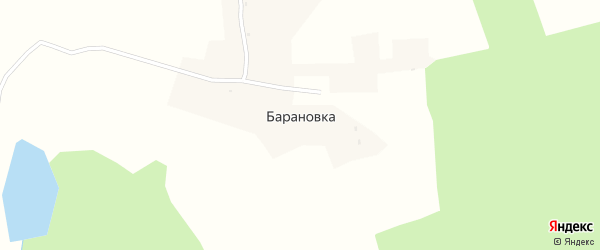 Лозицкая улица на карте деревни Барановки с номерами домов