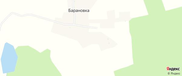 Садовый переулок на карте деревни Барановки с номерами домов