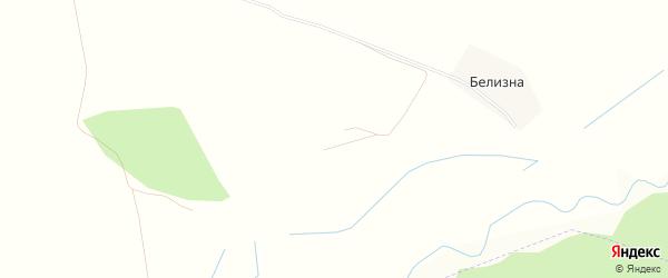 Карта деревни Белизна в Брянской области с улицами и номерами домов