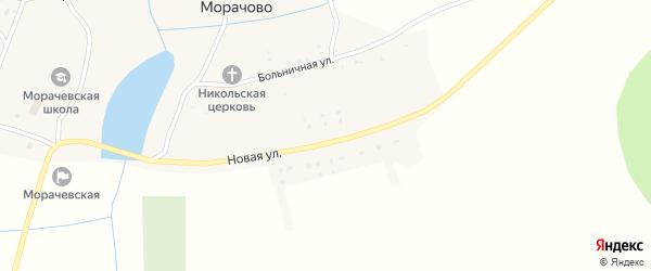 Новая улица на карте села Морачово с номерами домов