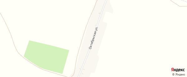 Октябрьская улица на карте деревни Паниковки с номерами домов