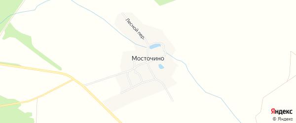 Карта деревни Мосточено в Брянской области с улицами и номерами домов