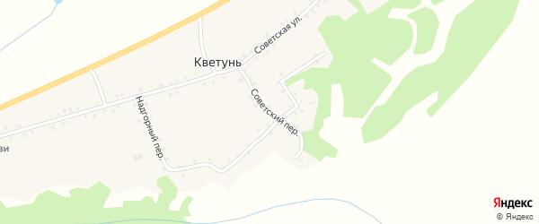 Советский переулок на карте деревни Кветуни с номерами домов