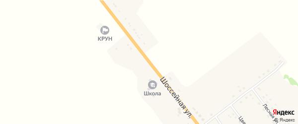 Шоссейная улица на карте деревни Летошники с номерами домов