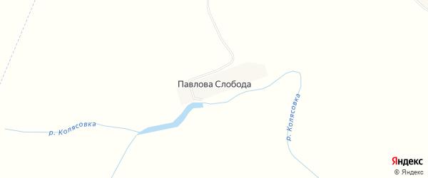 Карта деревни Павловой Слободы в Брянской области с улицами и номерами домов