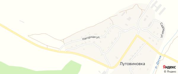 Нагорная улица на карте деревни Лутовиновки с номерами домов