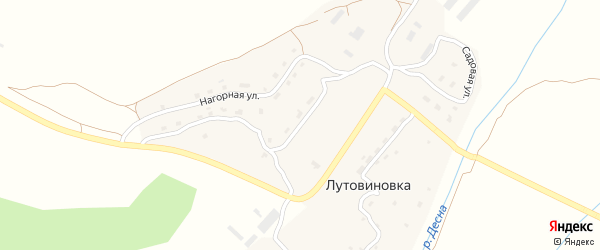 Улица Имени Зверева на карте деревни Лутовиновки с номерами домов