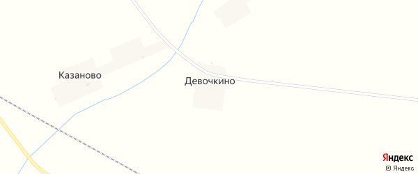 Нагорная улица на карте деревни Девочкино с номерами домов