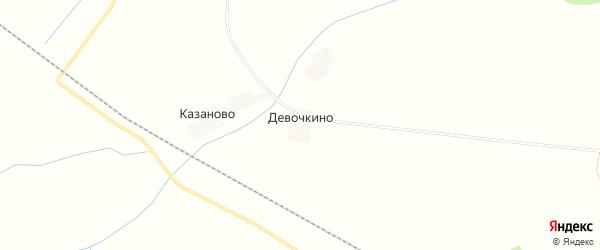 Карта деревни Девочкино в Брянской области с улицами и номерами домов