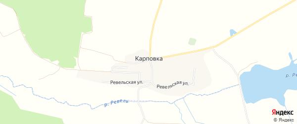 Карта села Карповки в Брянской области с улицами и номерами домов