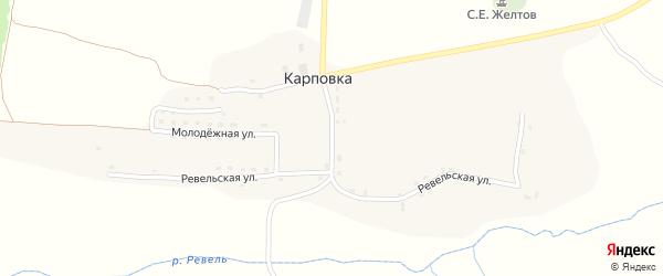 Ревельская улица на карте села Карповки с номерами домов