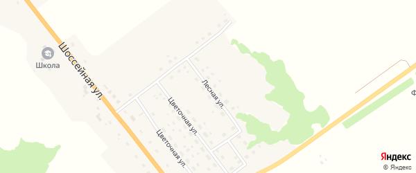 Лесная улица на карте деревни Летошники с номерами домов