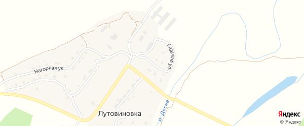 Садовая улица на карте деревни Лутовиновки с номерами домов