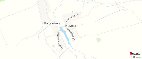 Карта деревни Именки в Брянской области с улицами и номерами домов