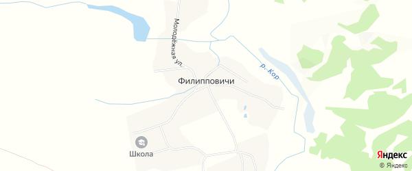 Карта села Филипповичи в Брянской области с улицами и номерами домов