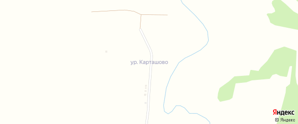 Новосельская улица на карте деревни Карташово с номерами домов