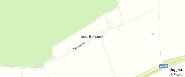 Карта поселка Воловни в Брянской области с улицами и номерами домов