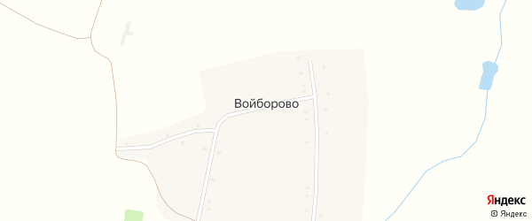 Партизанская улица на карте деревни Войборово с номерами домов