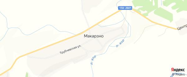 Карта деревни Макарзно в Брянской области с улицами и номерами домов