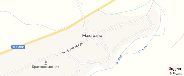 Набережный переулок на карте деревни Макарзно с номерами домов