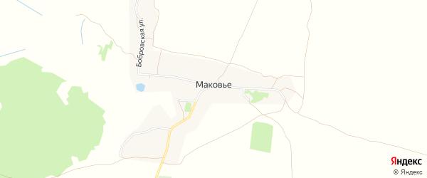 Карта деревни Маковья в Брянской области с улицами и номерами домов