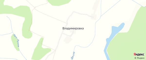 Карта деревни Владимировки в Брянской области с улицами и номерами домов