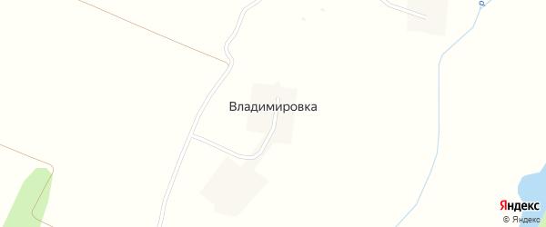 Полевая улица на карте деревни Владимировки с номерами домов