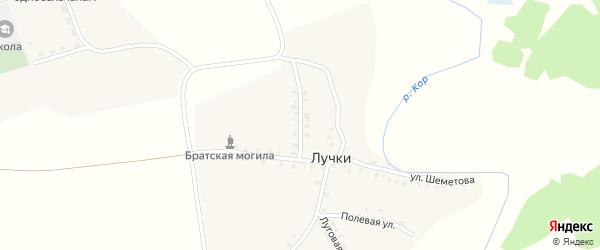 Переулок Шеметова на карте деревни Лучки с номерами домов