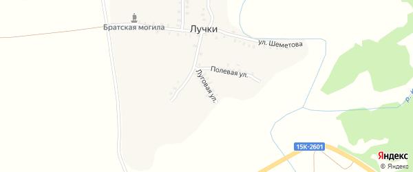 Луговая улица на карте деревни Лучки с номерами домов
