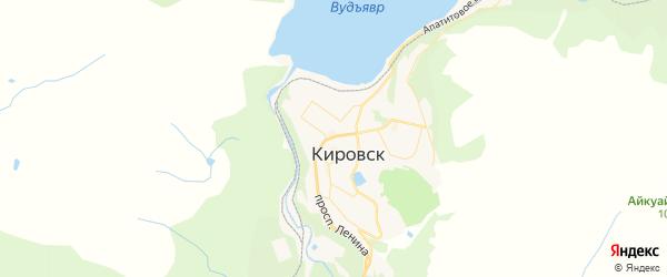Карта Кировска с районами, улицами и номерами домов