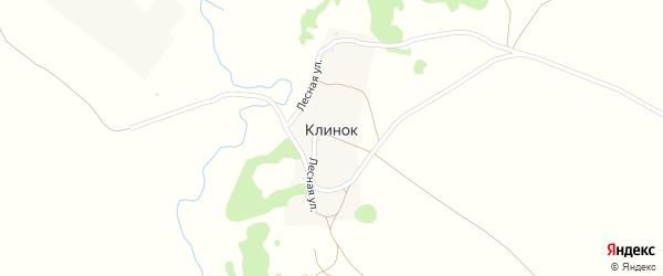 Лесная улица на карте деревни Клинка с номерами домов