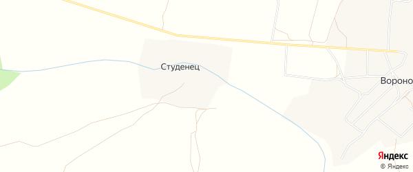 Карта деревни Студенец в Брянской области с улицами и номерами домов